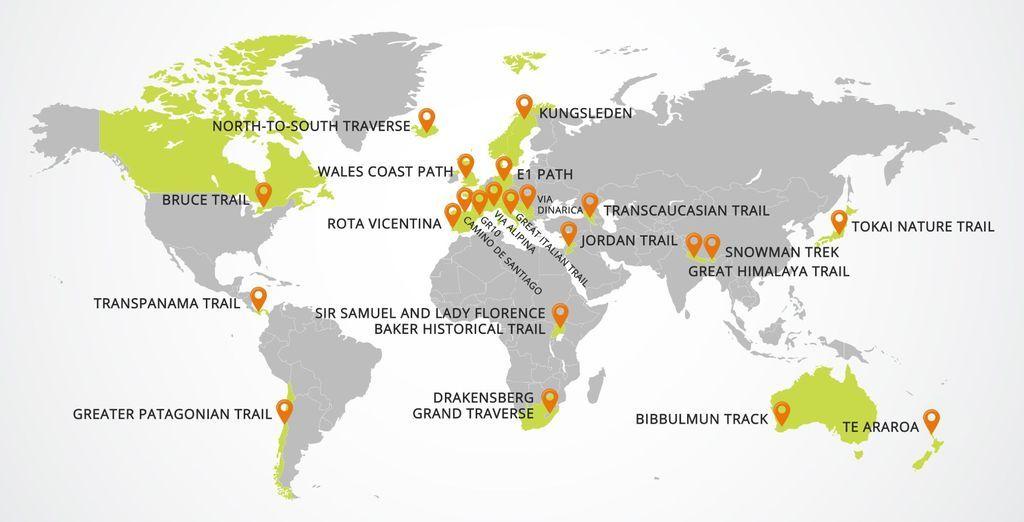 22 eeppistä pitkän matkan vaellusreittiä ympäri maailmaa