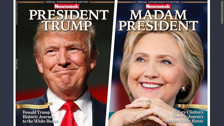 La couverture du Newsweek `` Madame la Présidente '' avec Hillary Clinton est plus que ce qui rencontre l'œil